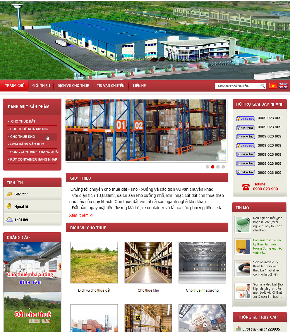website dịch vụ2