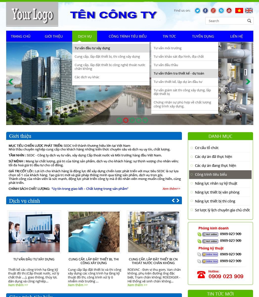 website dịch vụ13