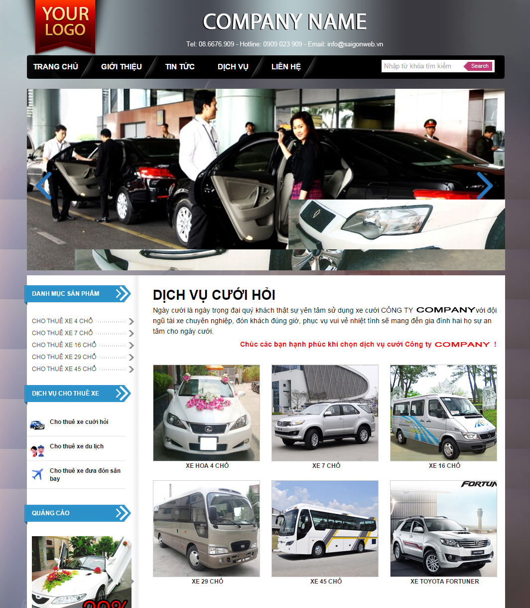 website dịch vụ23